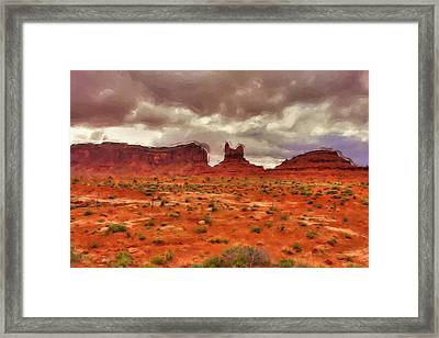 Monument Valley Framed Print by Ayse Deniz