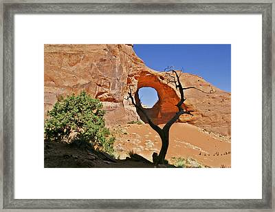 Monument Valley - Ear Of The Wind Framed Print by Christine Till