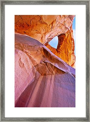 Monument Valley - Eye Of The Sun Framed Print by Christine Till