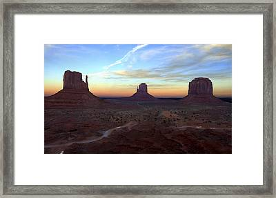 Monument Valley Just After Sunset Framed Print by Mike McGlothlen