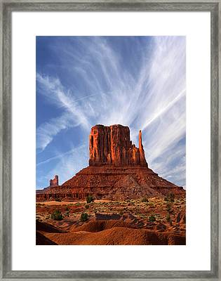 Monument Valley - Left Mitten 2 Framed Print by Mike McGlothlen