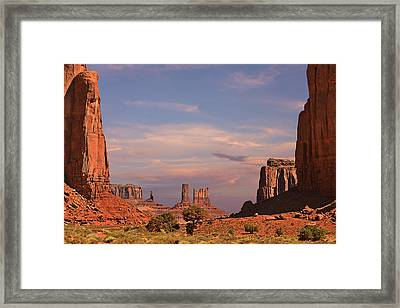 Monument Valley - Mars-like Terrain Framed Print by Christine Till