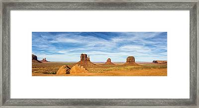 Monument Valley Panorama - Arizona Framed Print by Brian Harig