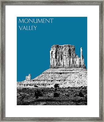 Monument Valley - Steel Framed Print by DB Artist
