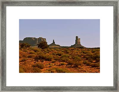 Monument Valley - Unusual Landscape Framed Print by Christine Till