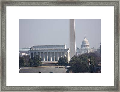 Monument View From Iwo Jima Memorial - 12122 Framed Print by DC Photographer