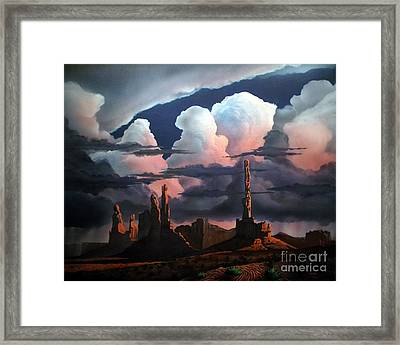 Monumental Monsoon  Framed Print by Jerry Bokowski