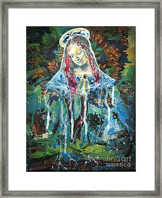 Monumental Tree Goddess Framed Print by Genevieve Esson