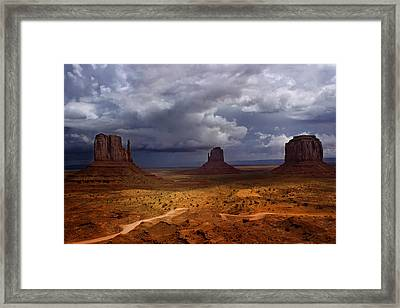 Monuments Of The West Framed Print by Ellen Heaverlo
