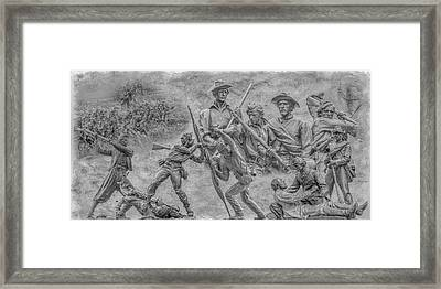 Monuments On The Gettysburg Battlefield Ver 2 Framed Print by Randy Steele