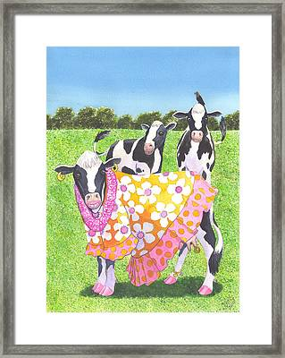 Moo Moo Framed Print by Catherine G McElroy
