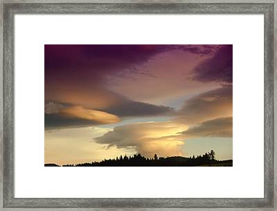 Mood Clouds Framed Print by Jeff Swan