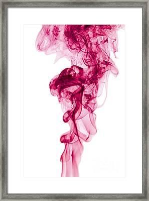 Mood Colored Abstract Vertical Deep Purple Smokel Art 01 Framed Print by Alexandra K