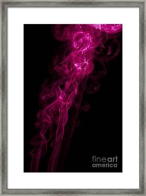 Mood Colored Abstract Vertical Purple Smoke Wall Art 02 Framed Print by Alexandra K