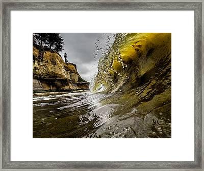Moody Barrel Framed Print by David Alexander