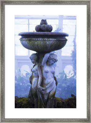 Moody Blue Statue Framed Print by Garry Gay