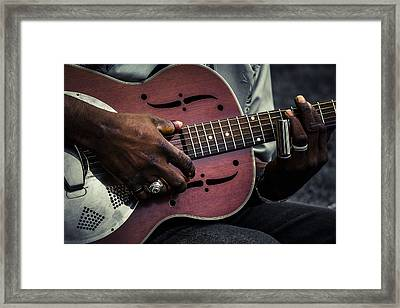 Moody Blues On Steel Framed Print by Scott Campbell