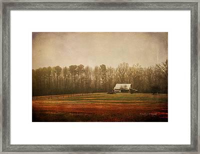 Moody Morning Stillness Framed Print by Paulette B Wright