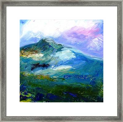 Moody Sky Over Eagle Hill In Spring  Framed Print by Trudi Doyle