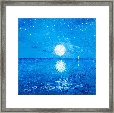 Moon And Stars Framed Print by Jan Matson