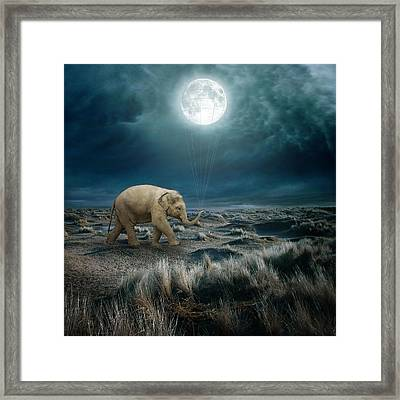 Moon Framed Print by Beata Bieniak