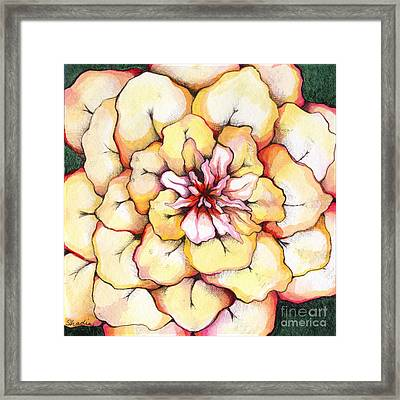 Moon Flower Out Of The Bloomers And Onto The Bloom Framed Print by Shadia Zayed