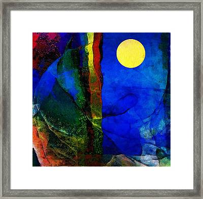 Moon In My Window Framed Print by Gun Legler