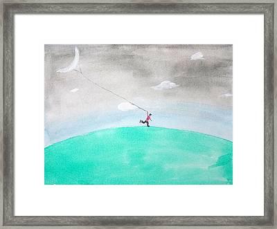 Moon Is My Kite Framed Print by Keshava Shukla