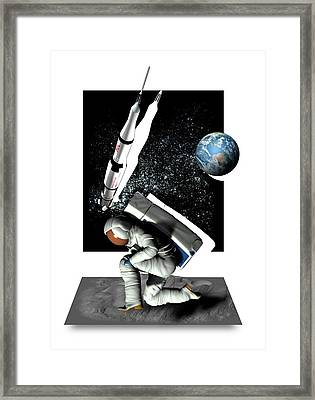 Moon Landing Framed Print by Victor Habbick Visions