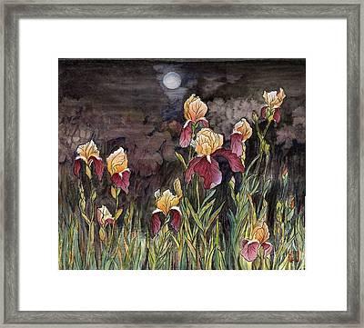 Moon Light At My Backyard Framed Print by Ping Yan