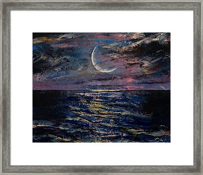 Moon Framed Print by Michael Creese