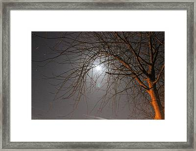 Moon N Murky Mist Framed Print by Kevin F Cook