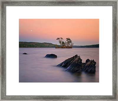 Moon Over Moose Framed Print by Darylann Leonard Photography