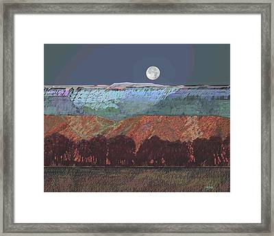 Moon Over Southern Utah Framed Print by Roger Bushman