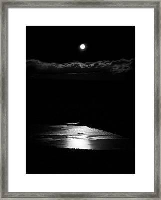 Moon Over Trout Creek Pond Framed Print by Patrick Derickson