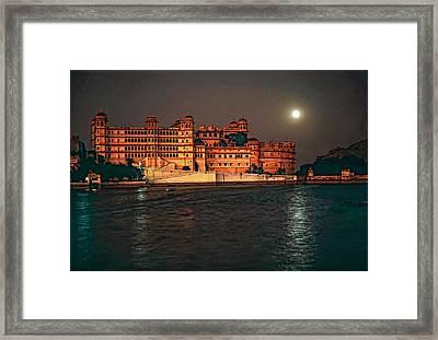 Moon Over Udaipur Framed Print by Steve Harrington