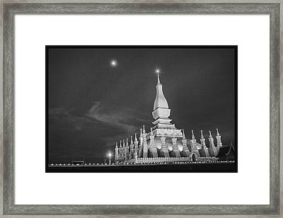 Moon Over Vientiane Framed Print by David Longstreath