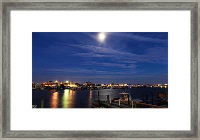 Moon Over Wildwood Framed Print by Gerald Barton
