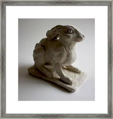 Moon Rabbit Framed Print by Derrick Higgins