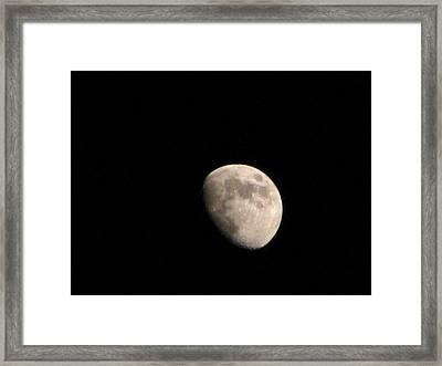 Moon Framed Print by Rheo