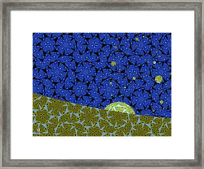 Moon Rise Framed Print by Jim Pavelle