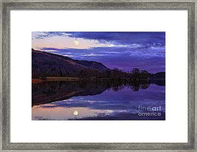 Moon Rising Over Loch Ard Framed Print by John Farnan