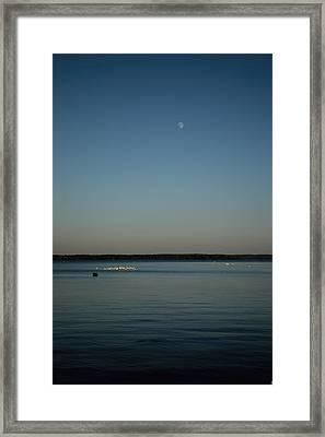 Moon Rising Over Reelfoot Framed Print by Jai Johnson