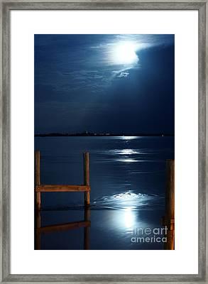 Moon River 2 Framed Print by Lynda Dawson-Youngclaus