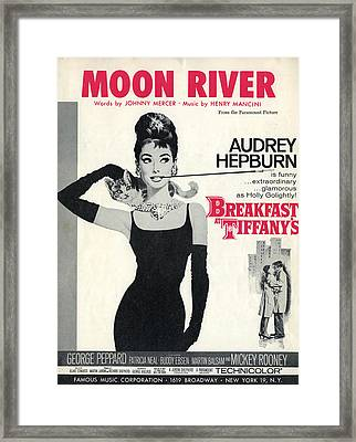 Moon River Framed Print by Georgia Fowler