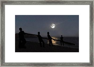 Moon Shadows  Framed Print by Eric Kempson