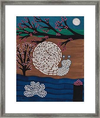Moon Snail Bella Coola Framed Print by Barbara St Jean