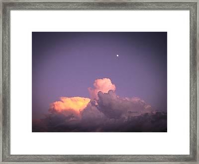 Moon Speck Framed Print by Robert J Andler