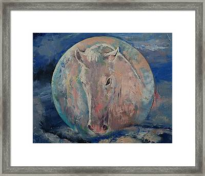 Moon Stallion Framed Print by Michael Creese