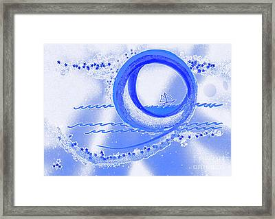 Moon Surfing 1 By Jrr Framed Print by First Star Art